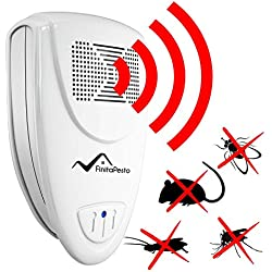 Ultrasonic Pest Repeller by Finita Pesto - SAFE for Children and Pets - Quickly eliminates flies, cockroaches, spiders, fleas, mice, rats, and other pests.