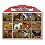 Melissa & Doug Pasture Pals - 8 Collectible Horses With Wooden Barn-Shaped Crate