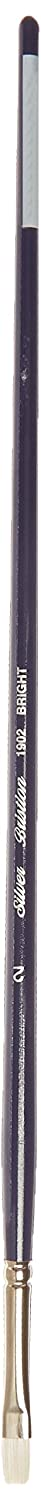 Silver Brush 1902-2 Bristlon Stiff Synthetic Long Handle Filament Brush, Bright, Size 2 Silver Brush Limited