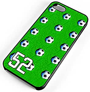 iphone 5c pictures soccer green pattern black plastic cell 2354