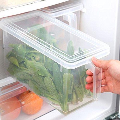 FASTUNBOX  LABEL  Plastic Refrigerator Storage Containers   2 Pieces, Transparent