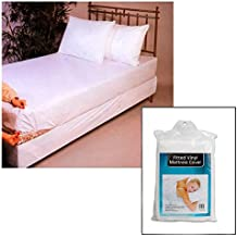 Twin Size Bed Mattress Cover Plastic White Waterproof Bug Protector Mites Dust !