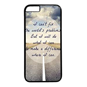 "Inspirational Quote Case for iPhone 6(4.7"") PC Material Black by mcsharks"