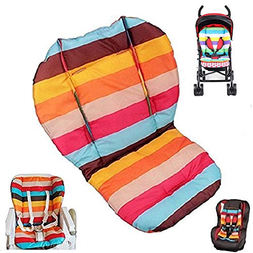 Twoworld Baby Stroller/Car / High Chair Seat Cushion Liner Mat Pad Cover Protector Double-Sided Striped Water Resistant (Pad Booster Top Liner)