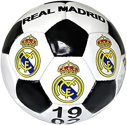 Real Madrid, balón de futbol , tamaño 5 , blanco y negro: Amazon.es: Deportes y aire libre
