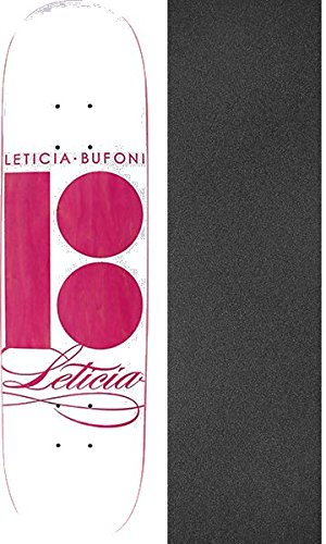 Plan B Skateboards Leticia Bufoni Scipt Skateboard Deck   7 5  X 31 625  With Mob Grip Perforated Griptape   Bundle Of 2 Items