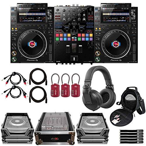 Pioneer CDJ-3000 Flagship rekordbox DJ Multi Players Pair w DJM-S9 Mixer & Cases
