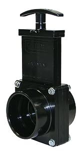 """Valterra 7201 ABS Gate Valve, Black, 2"""" Slip"""