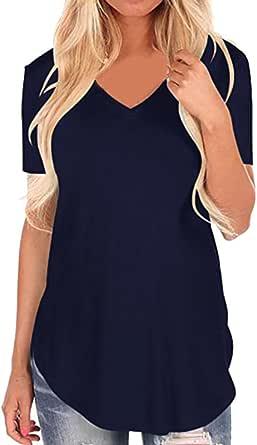 Camisetas Flores Mujer Xinantime Camisetas Mujer Manga Corta Camisetas Algodon Mujer Camisetas Mujer Manga Corta Camisetas Mujer Verano Blusa Mujer ...