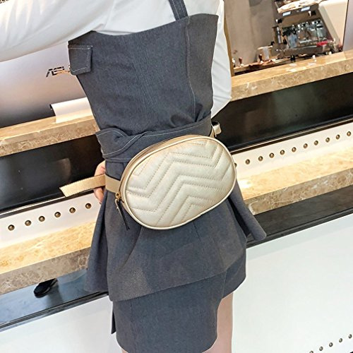 Waist Bag Mini Qirui All Modern Wave Style Pattern Pocket Purpose Gold Gold xq1XqI