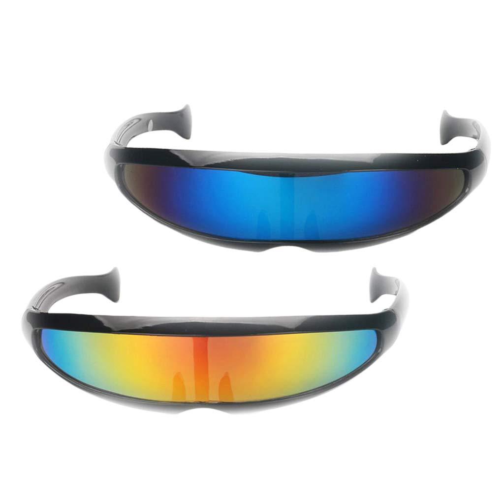 Masken Baoblaze 2er Set Futuristische Cyclops Sonnenbrille Verspiegelte Brille Party Requisiten Spielzeug Fbotion Com Br