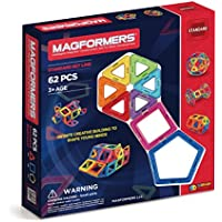 Magformers Basic Set (62-pieces)  Magnetic Building...