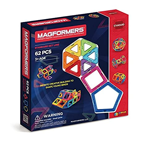 Amazon Magformers Basic Set 62 Pieces Magnetic Building