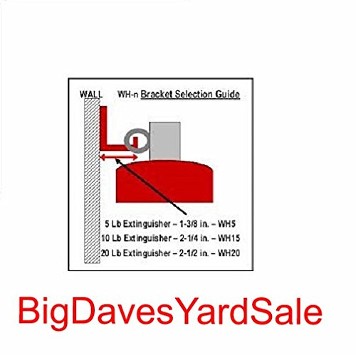 (6 Pack) - Universal Fire Extinguisher Wall Hook, Mount, Bracket, Hanger for 15 to 20 Lb. Extinguisher - FREE SCREWS & WASHERS INCLUDED by BigDavesYardSale (Image #5)