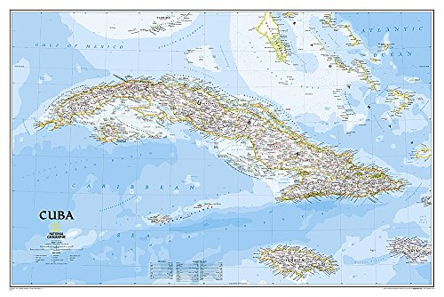 National Geographic: Cuba Classic Wall Map (36 x 24 inches) (National Geographic Reference Map)