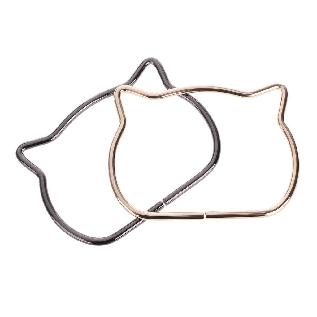 SimpleLif Metal Bag Handle,Cute Cat Ear Handle DIY Shoulder Bags Making Handbag Handle Replacement Accessories by SimpleLif (Image #5)