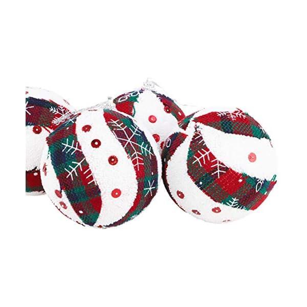 Christmas Concepts® Confezione da 6 Palline di Natale in Design Scozzese - Decorazioni Natalizie di Lusso (Fiocco di Neve) 4 spesavip