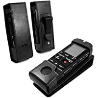 Tuff-Luv Vintage Genuine Leather case for Sony Dictaphone PC240 PX312D PX333 BX140 PX440 BX112 - Black