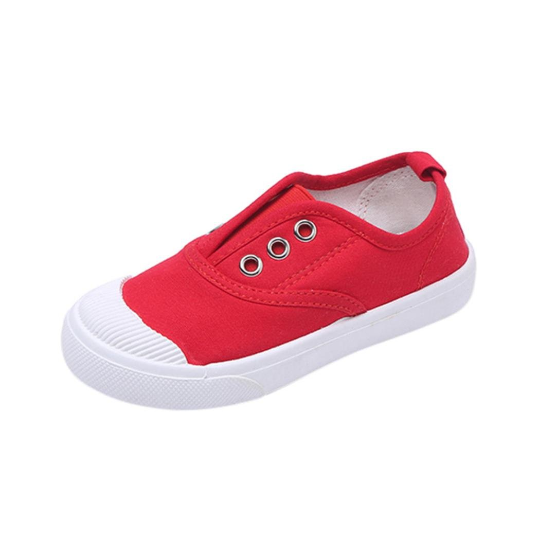 Janly® Shoes, Canvas Crib Shoes Summer for 0-8 Years Old Boys Girls Toddler Plain Sneaker Kids Child Single Shoes Footwear HUE-86