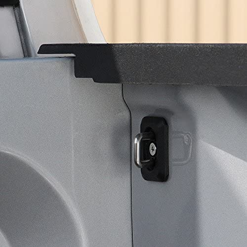 1 Pair Does NOT FIT 2018 RAM Front Corners with Applied Brackets No Drill Bull Ring 1066 for RAM 2002-2019 No Cut Not a Rail Cap Mount Mounts Inside The Bed-at The Corners