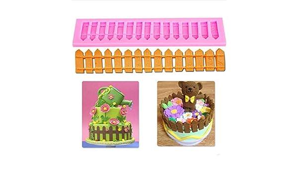 Yamybox DIY Fence Cake Decoration Silicone Mold Fondant Cake ...