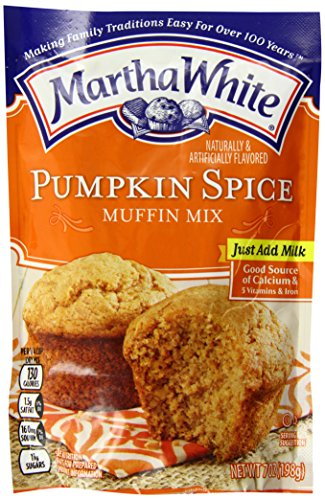 Martha White Pumpkin Spice Flavored Muffin Mix, 7 Ounce (Pack of 12)