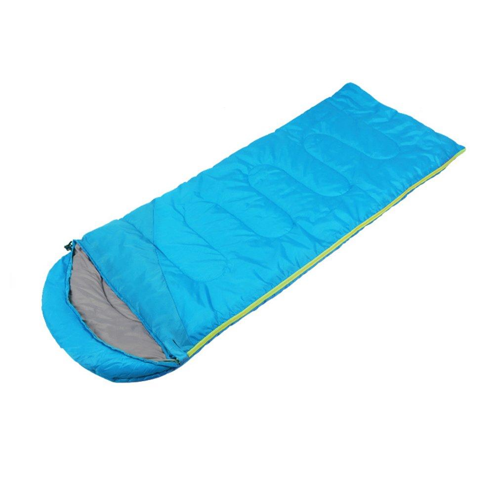 ZXQZ Schlafsack Erwachsene Outdoor Camping Reise Baumwolle Schlafsack Vier Jahreszeiten Tragbare Warme Schlafsack Mumienschlafsäcke (Farbe   Blau, größe   1.1KG)