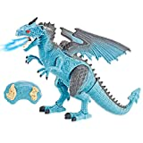 Liberty Imports Dino Planet Remote Control RC Walking Dinosaur Toy with Breathing Smoke