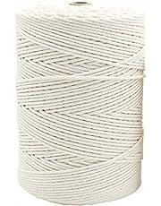 500 Meter Natural Cotton Macrame Cord 3mm Rope in Bulk Wholesale for Making Knitting Wall Hanging Plant Hanger Handcraft (500 Meter)