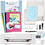 Silhouette America Curio Cabinet Digital Crafting Machine with Heat Transfer Starter Kit