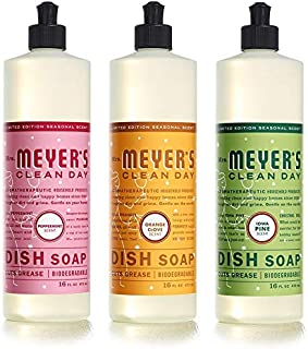 product image for Mrs. Meyer's Holiday Liquid Dish Soap Variety Pack, (Iowa Pine, Orange Clove, and Peppermint Scent 16 OZ, 3pk)