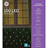 GE StayBright Random Sparkle 100 LED Net-Style Lights - Warm White