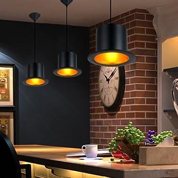 LightInTheBox European Style Black Aluminum Metal Painting Top Hat Pendant Lamp 1 Light Ceiling Fixture