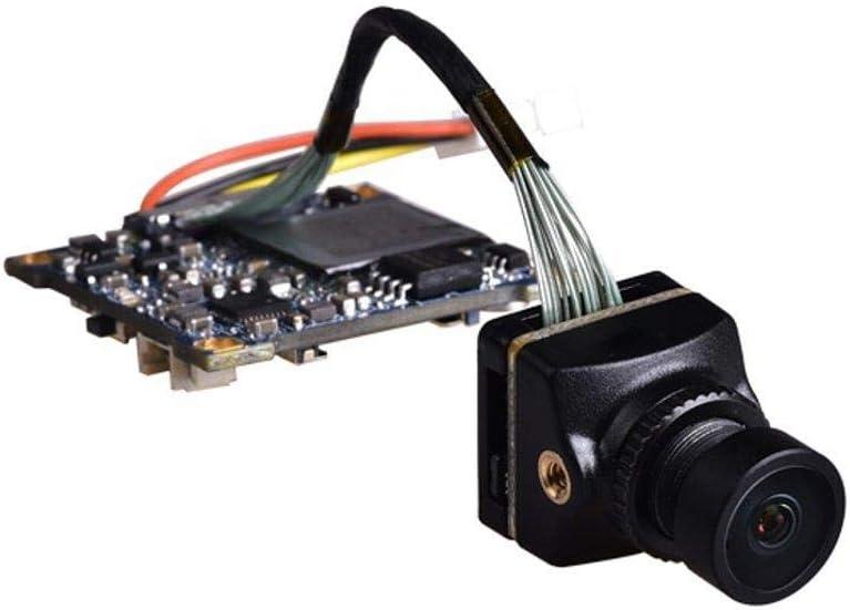 カメラ付きミニドローン 1080P 60fpsのHD録画WDR低レイテンシー16:9/4:3 NTSC/PAL切り替え可能FPVカメラのRCドローン (色 : ブラック, サイズ : 25.5x25.5mm)