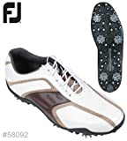 FootJoy Superlites Golf Shoe (White/Brown) 8.5