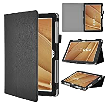 """ASUS Zenpad 8 Z380M Case, IVSO ASUS Zenpad 8.0 Z380M Case- High Quality Leather Slim-Book Stand Cover Case-for ASUS Zenpad Z380M-A2-GR 8"""" Tablet (Black)"""