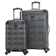 Ben Sherman Nottingham Lightweight Hardside 4-Wheel Spinner Travel Luggage, Charcoal, 2-Piece Set (20″ & 28″)