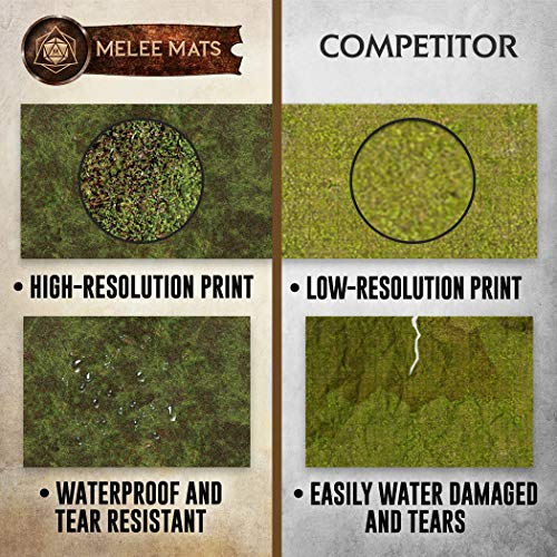 Battle Game Mat - 48x72 - Dungeons and Dragons Tabletop Role Playing Map - Wargaming DnD - RPG Dust Warfare & Flames of War - Reusable Miniature Figure Board Games - 40k Warhammer Gaming Vinyl