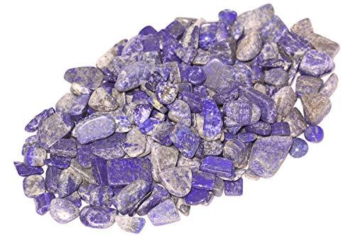 ZenQ 1 lb Lapis Lazuli Tumbled Stone Chips Crushed Natural Crystal Quartz Pieces