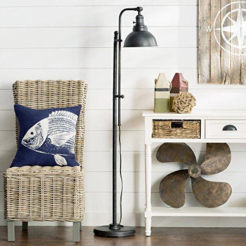 Contemporary Floor Lamp - Traditional 65'' H Task Lamp - 60 Watt - Dark Zinc Finish (Task Floor Lamp)