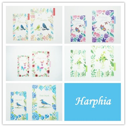 Index Card Binder Refill - Planner Dividers 6 Ring Binder Refill Tab Index Cards,Harphia-Bird,Nature Series,A5 5.29'' x 8.27''