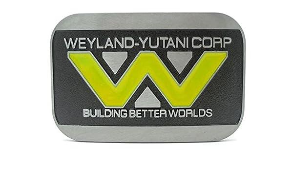 Choppershop Weyland-Yutani Corp Edificio Mejor Mundos Metal Hebilla de cintur/ón
