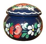 Hungarian Small Round Wooden Jewelry Box