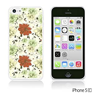 OnlineBestDigital - Flower Pattern Hardback Case for Apple iPhone 5C - Pattern With Red And Green Flowers