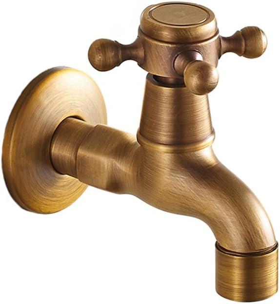 Frideko Antik Messing 1//2 Zoll Wandmontage Waschmaschine Wasserhahn f/ür Badezimmer K/üche Toilette Garten Vintage Wasserhahn