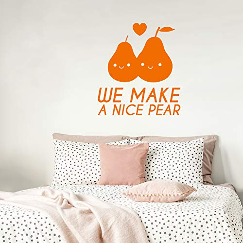 Valentines Day Vinyl Wall Art Decal - We Make A Nice Pear - 25