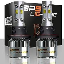 BPS Lighting B2 LED Headlight Bulbs Kit w/Clear Arc Beam 100W 16000LM 6000K - 6500K White CSP LED Headlight Conversion for Replace Halogen Bulb Headlights - (2pcs/set) (H13/9008)