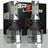 Image of BPS LIGHTING B2 LED Headlight Bulbs Conversion Kit - H13-9008 80W 12000 Lumen 6000K 6500K - Cool White - Super Bright - Car or Truck High and Low Beam - All-in One - Plug and Play