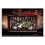Tin Sign Motorcycle Bike Poster Metal Plate Wall Decor by Jake Box 20*30cm of Kawasaki Ninja Motorcycles: Tamagotchi For Men