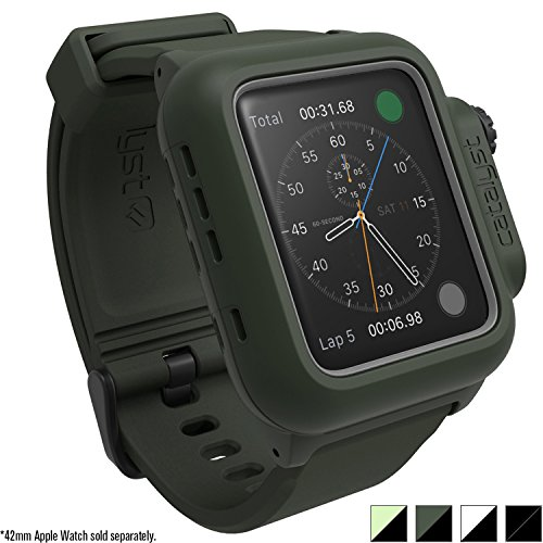 Catalyst Case for Apple Watch 42mm Series 2 - Waterproof Shock Resistant (Army Green)
